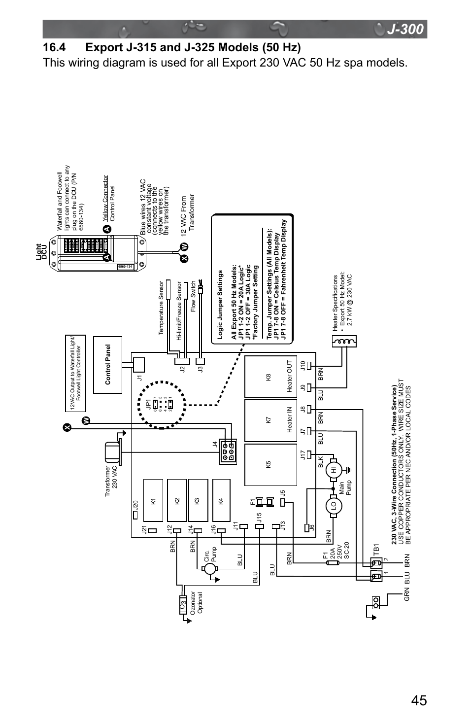 jacuzzi j 315 page49 4 export j 315 and j 325 models (50 hz) jacuzzi j 315 user jacuzzi j 345 wiring diagram at alyssarenee.co
