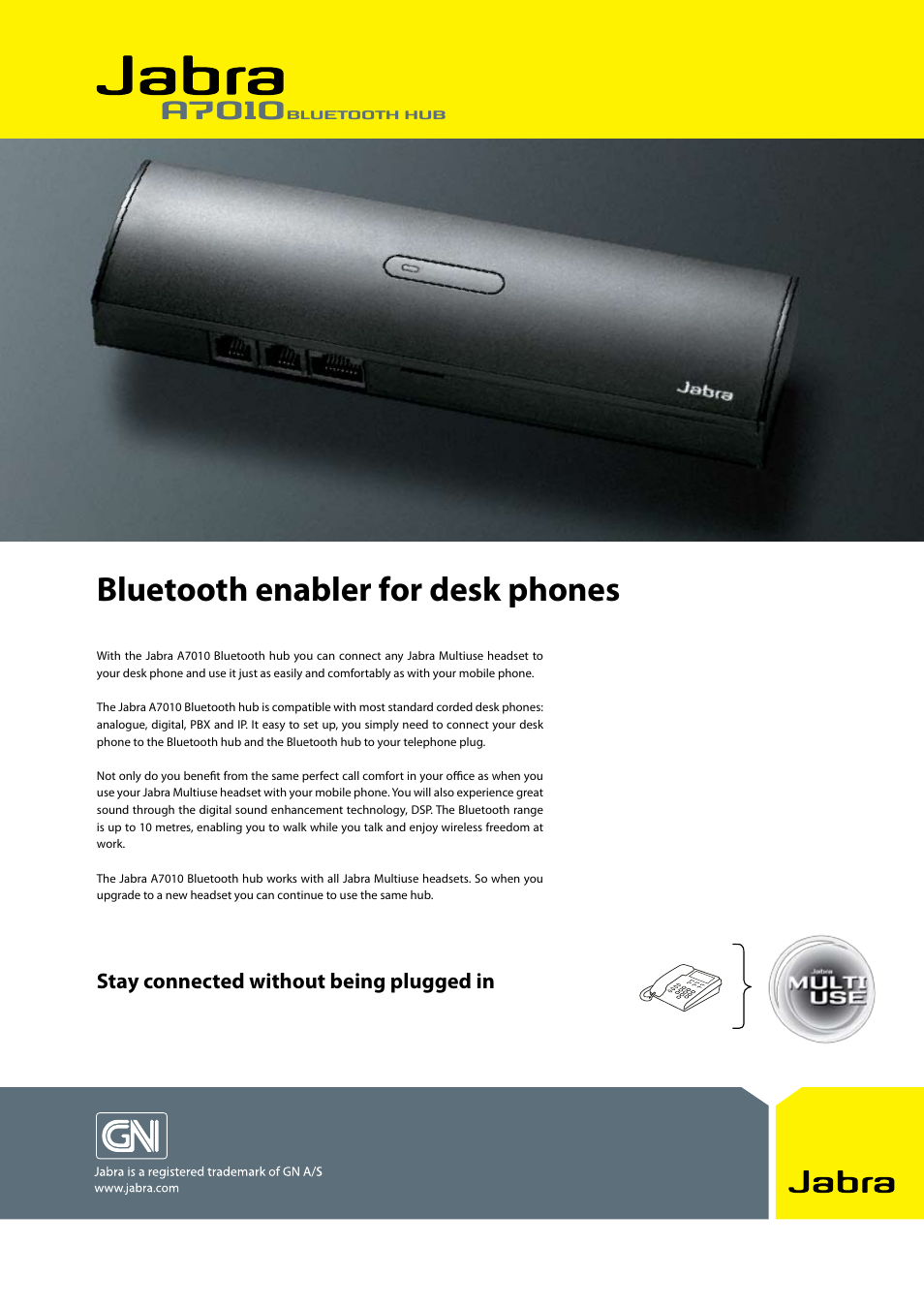 Jabra A7010 User Manual | 2 pages
