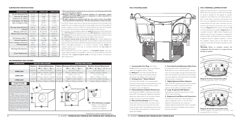 jl audio 10w6v2 d4 page2 jl audio 10w6v2 d4 user manual page 2 3 jl audio w6v2 wiring diagram at metegol.co