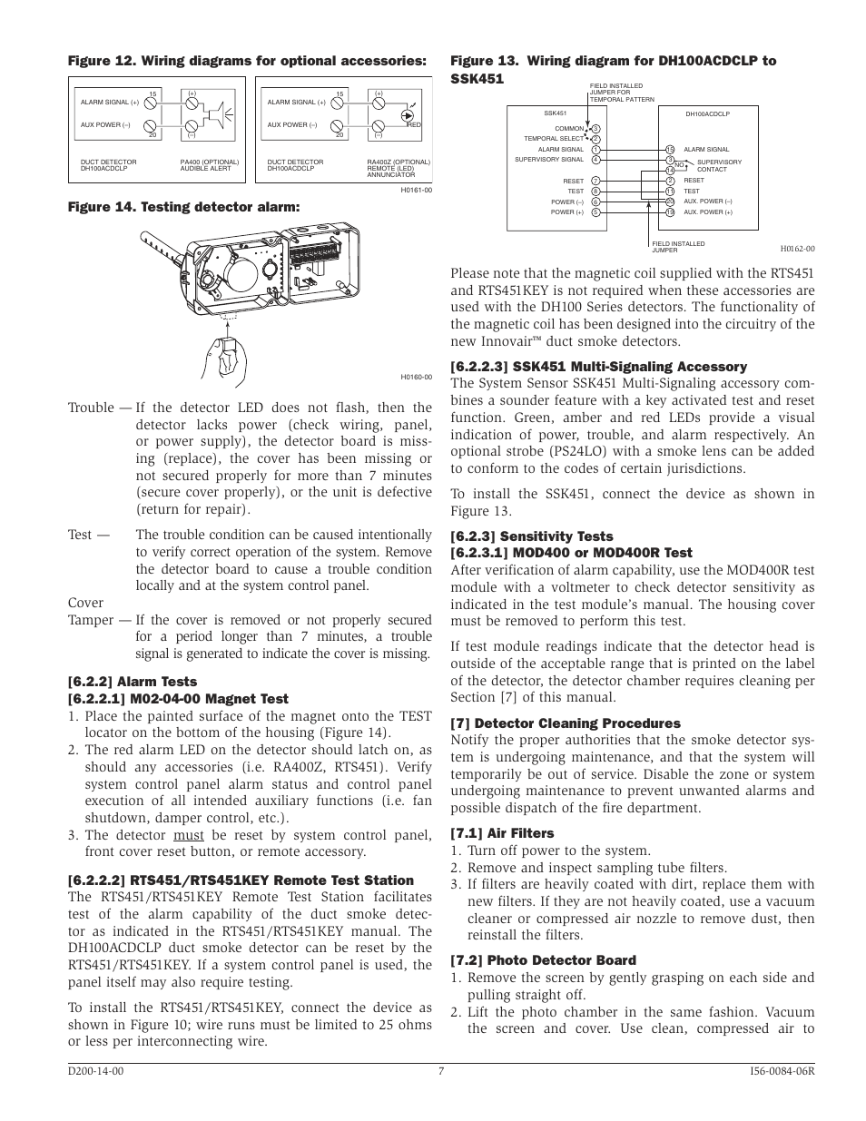 Figure 14. testing detector alarm | System Sensor DH100ACDCLP User Manual |  Page 7 / 8