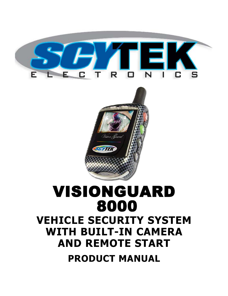 scytek electronics visionguard 8000 user manual