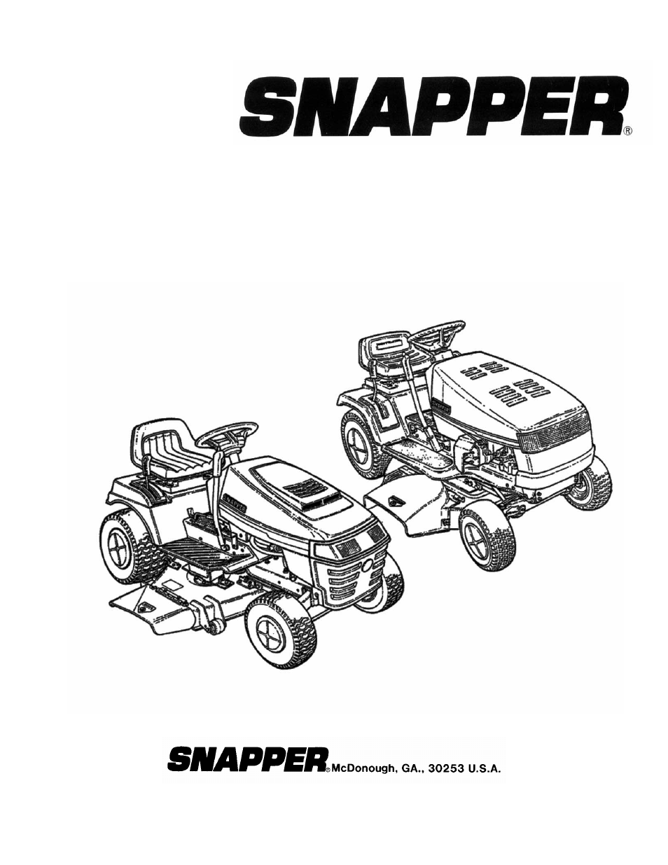 snapper lawn mower accessory user manual