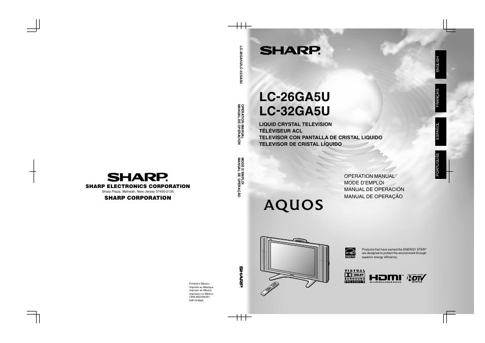 sharp aquos lc 32ga5u user manual 65 pages rh manualsdir com sharp lc-32ga5e service manual KB Sharp 6525P5