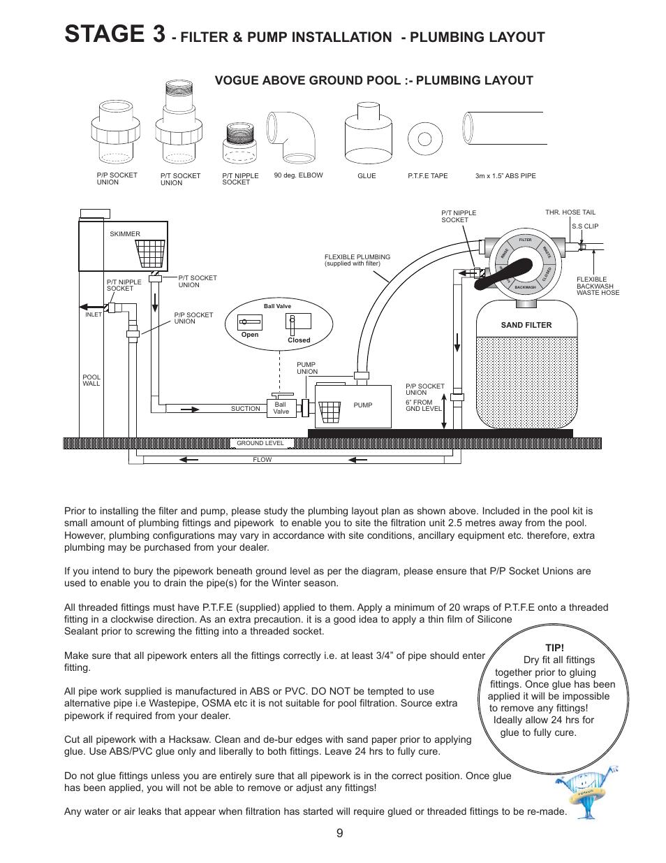 Stage 3  Filter  U0026 Pump Installation