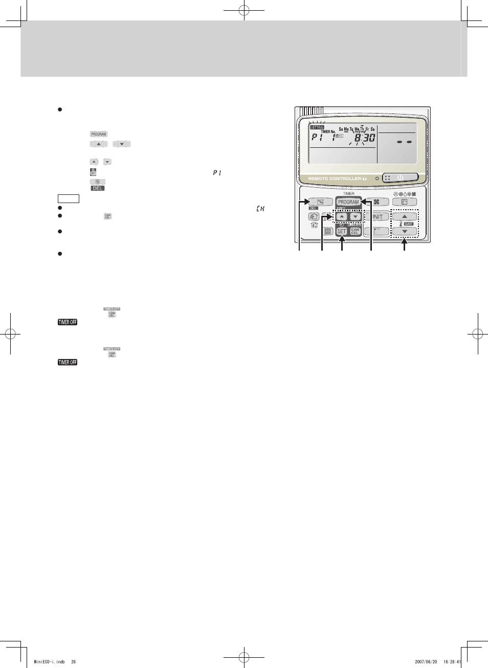 timer remote controller rcs tm80bg sanyo chx06052 user manual rh manualsdir com Procedure Manual Procedure Manual