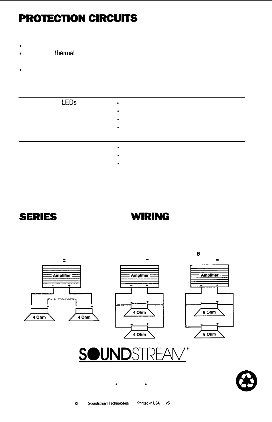 Troubleshooting Service Parallel Diagrams See Soundstream Thermal Protector Wiring Diagram Technologies Granite 1204 User Manual Page 20