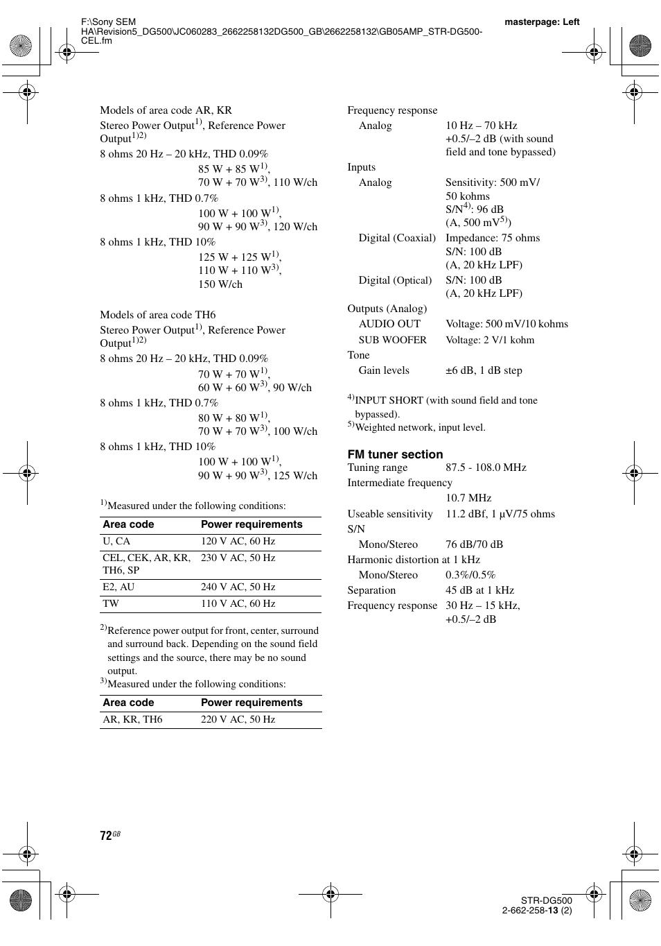 Sony STR-DG500 User Manual   Page 72 / 76   Original mode