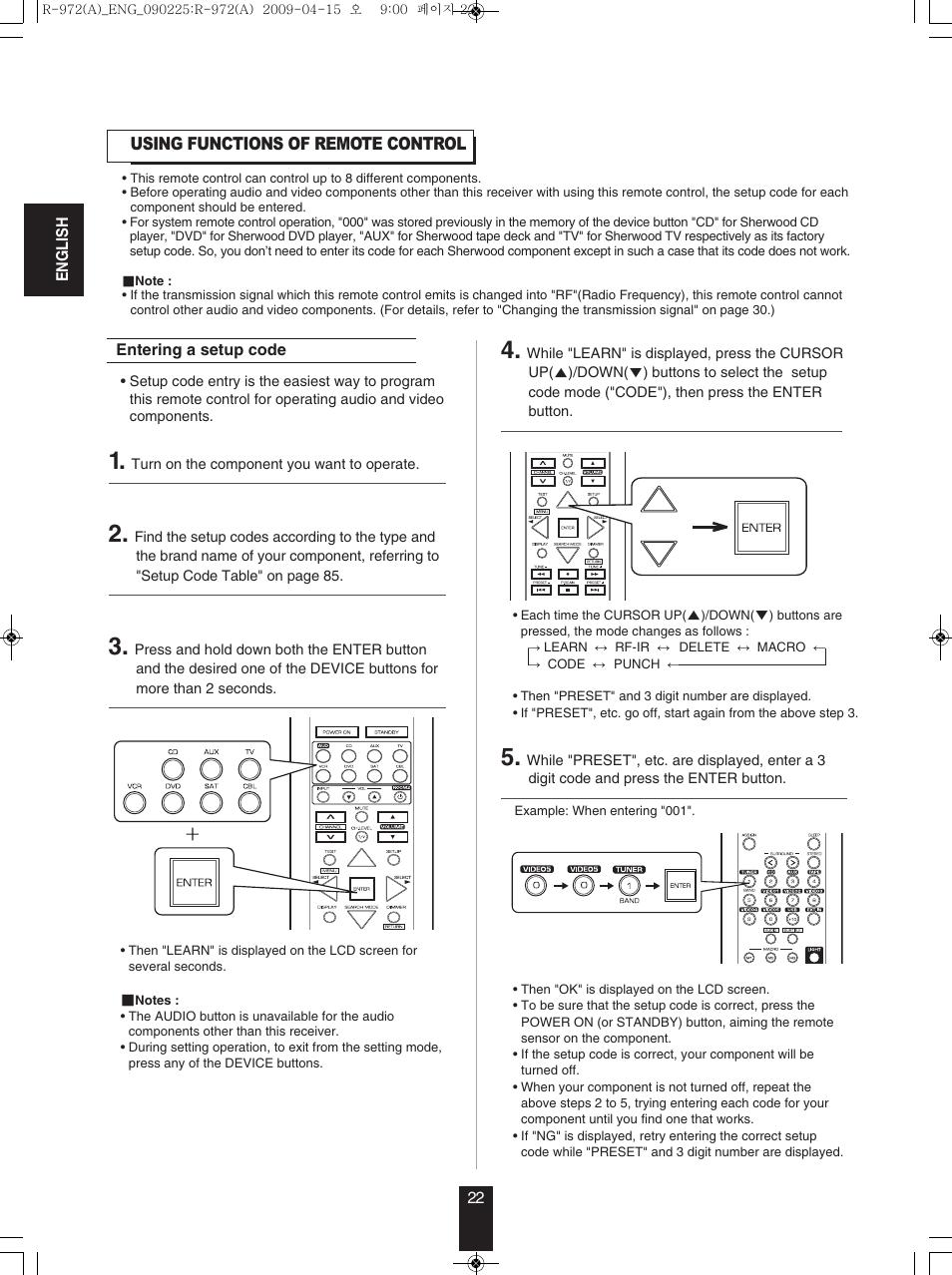 Sherwood Newcastle R-972 User Manual | Page 22 / 92