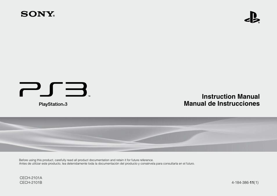 sony 120 250gb playstation 3 cech 2101a user manual 120 pages rh manualsdir com manual playstation 3 slim manual playstation 3 pdf español