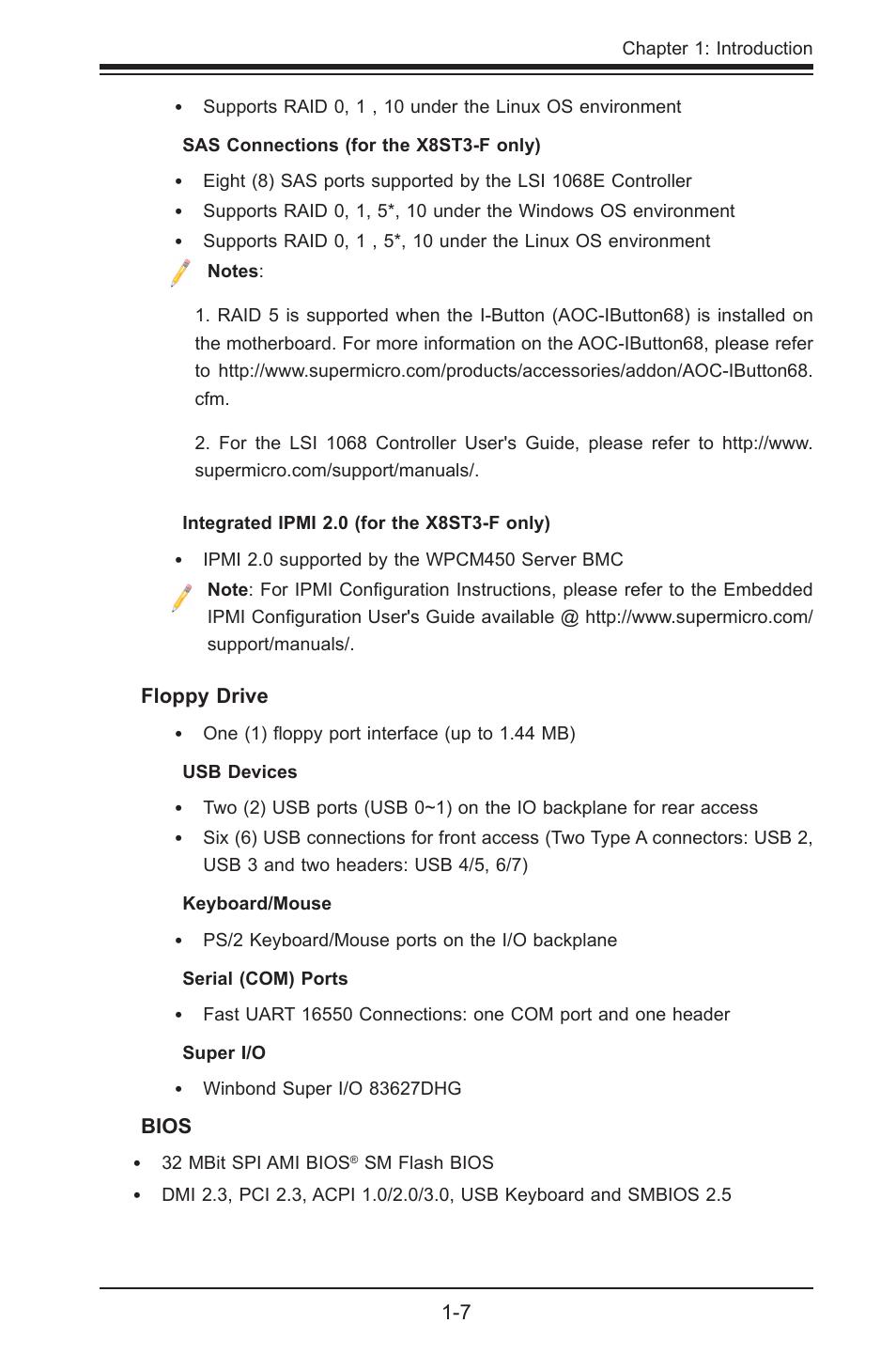 SUPER MICRO Computer SUPER X8STE User Manual | Page 15 / 105