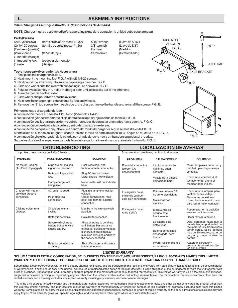 l assembly instructions localizacion de averias troubleshooting rh manualsdir com schumacher se 4022 user manual schumacher xp400 jump starter user manual