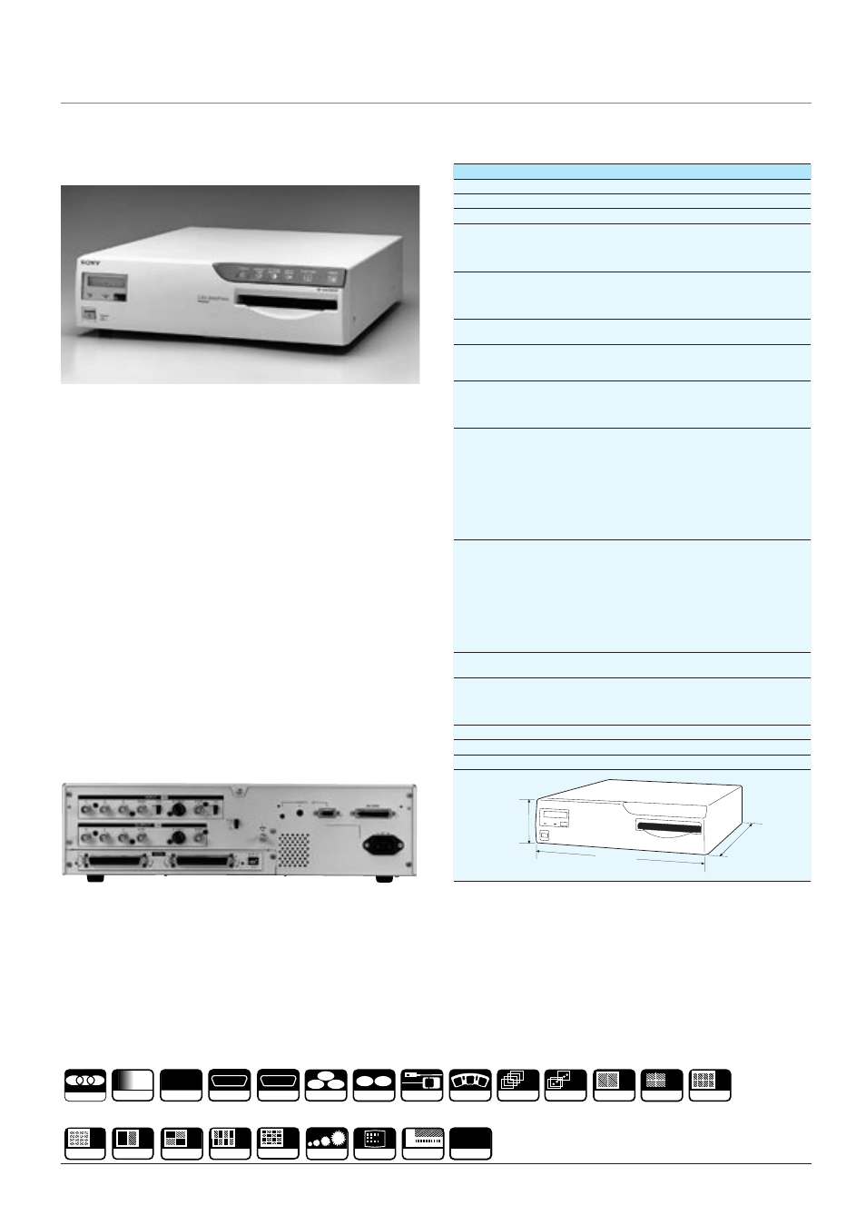up 5600mdp colour video printers supplied accessories sony cctv rh manualsdir com Sony Wireless Headphones Manual Sony Operating Manuals