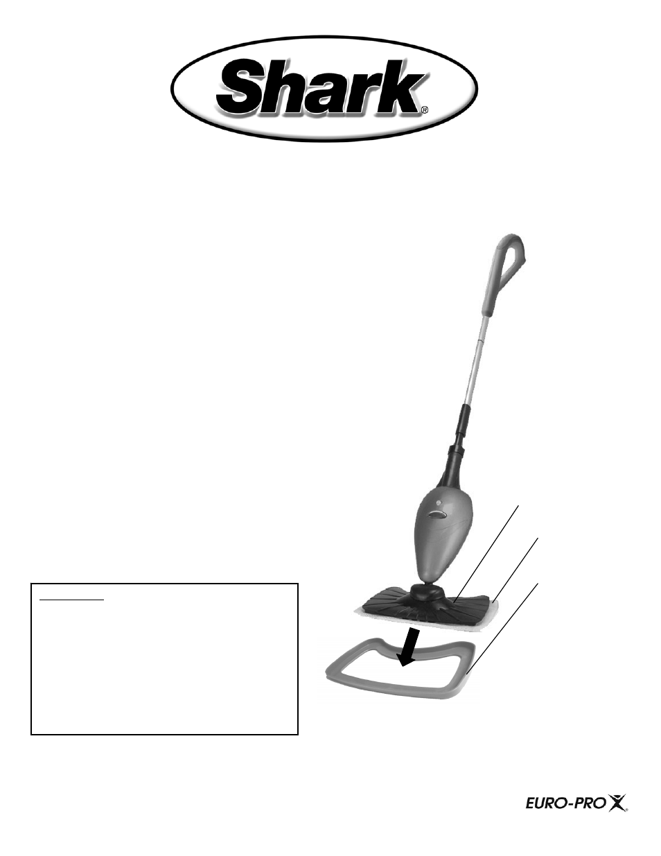Shark Carpet Glider S3101 User Manual 1 Page