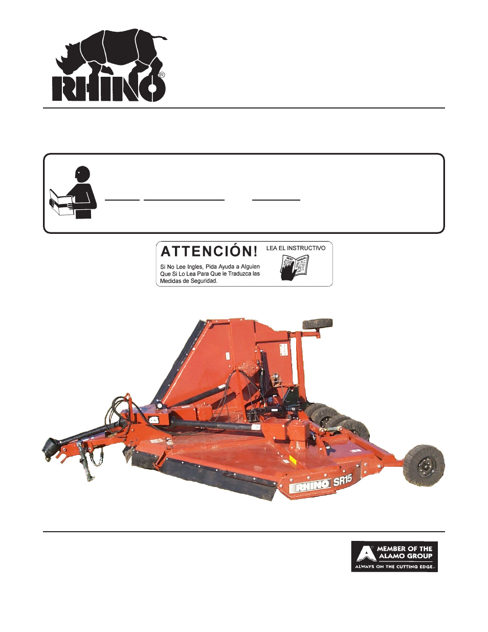 Servis-Rhino SR15M User Manual | 152 pages | Also for: SR10M
