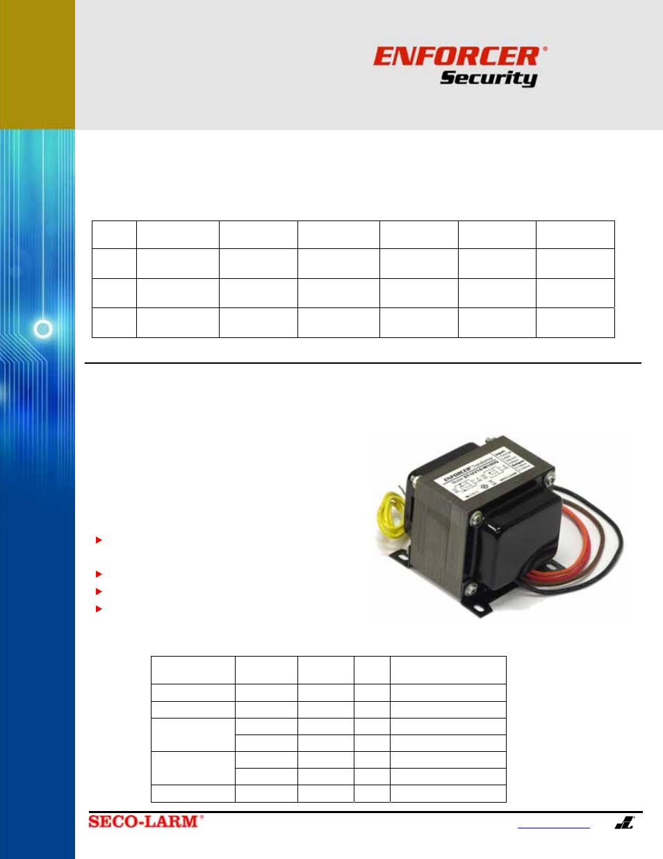 Open-frame transformers, St-uv24-w50q, St-uvda-w100q | SECO
