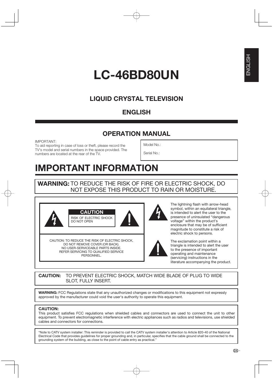 important information lc 46bd80un operation manual sharp aquos rh manualsdir com sharp user manual mx-m465 sharp user manual mx-m465
