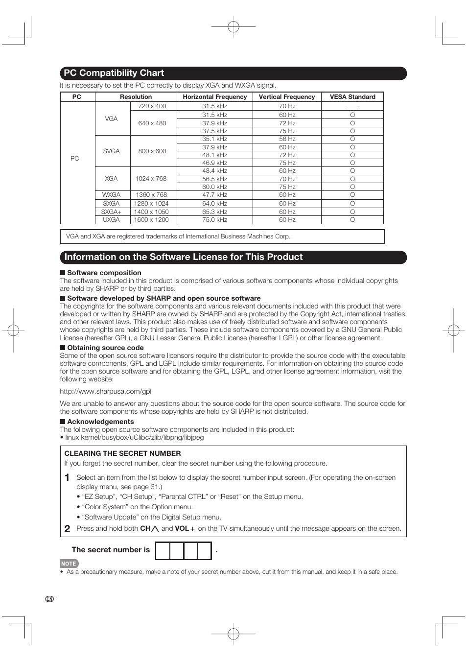 pc compatibility chart sharp aquos lc 46bd80un user manual page rh manualsdir com sharp aquos 65 smart tv owners manual sharp aquos 65 inch 4k tv manual