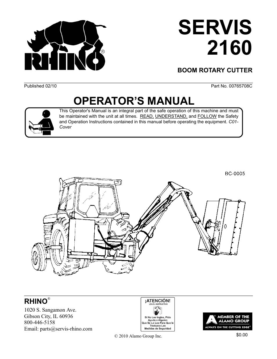 New Rhino Bush Hog Parts Diagram