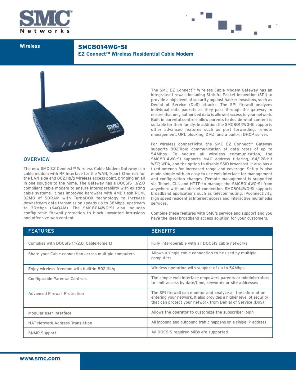 smc networks ez connect smc8014wg si user manual 2 pages rh manualsdir com SMC8014W -G TWC SMC8014W- G IP Address
