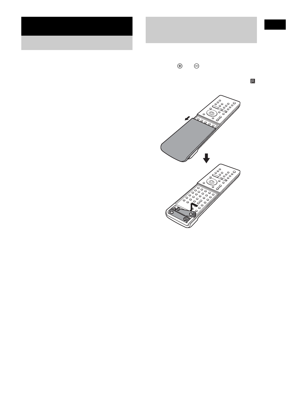Getting Started Unpacking Inserting Batteries Into The Remote Ir Receiver For Sony Remotes Dav Sr4w User Manual Page 11 108