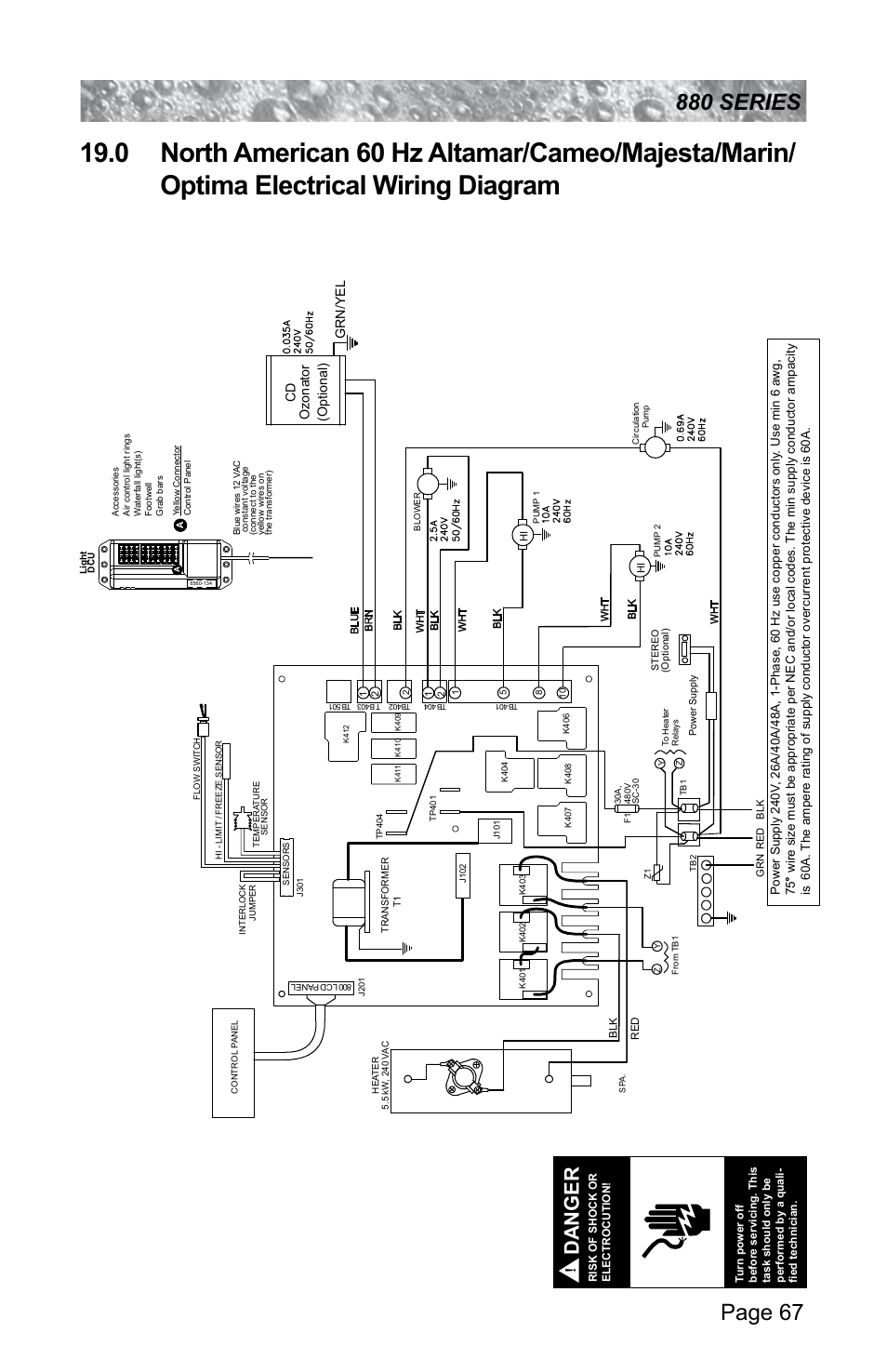 sundance spas altamar 880 page73 sundance spa wiring diagram spa pump wiring diagram \u2022 wiring spa builders lx 10 wiring diagram at mifinder.co