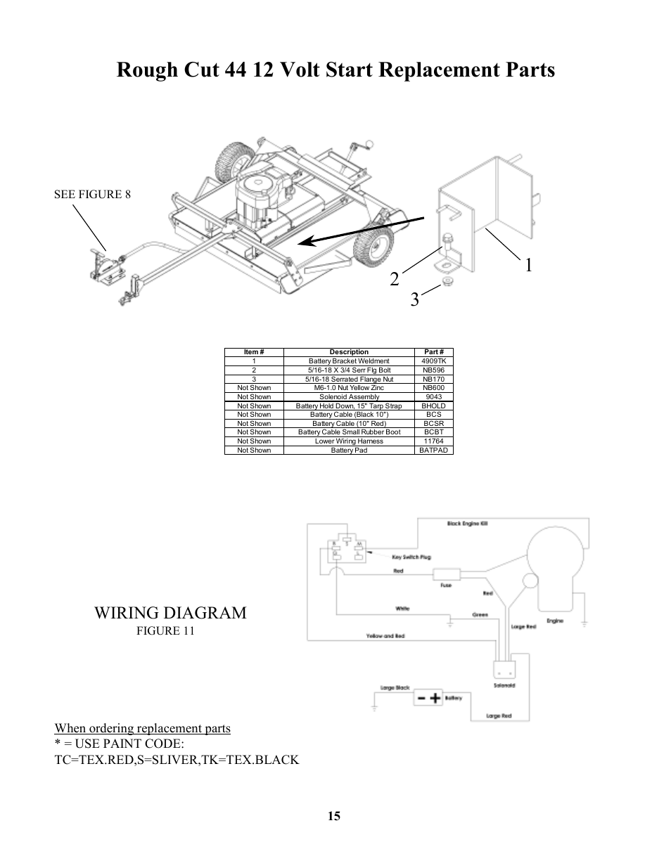 Swisher Wiring Harness Diagram For Light Switch Toro Rough Cut 44 12 Volt Start Replacement Parts See Rh Manualsdir Com Exmark Bobcat