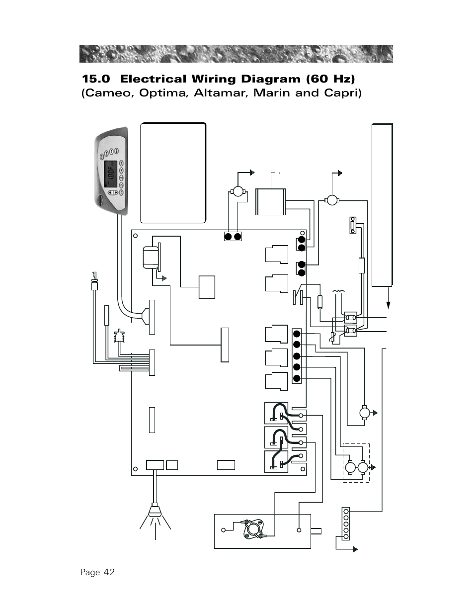 0 electrical wiring diagram (60 hz), Page 42 | Sundance Spas 850 User  Manual | Page 46 / 52