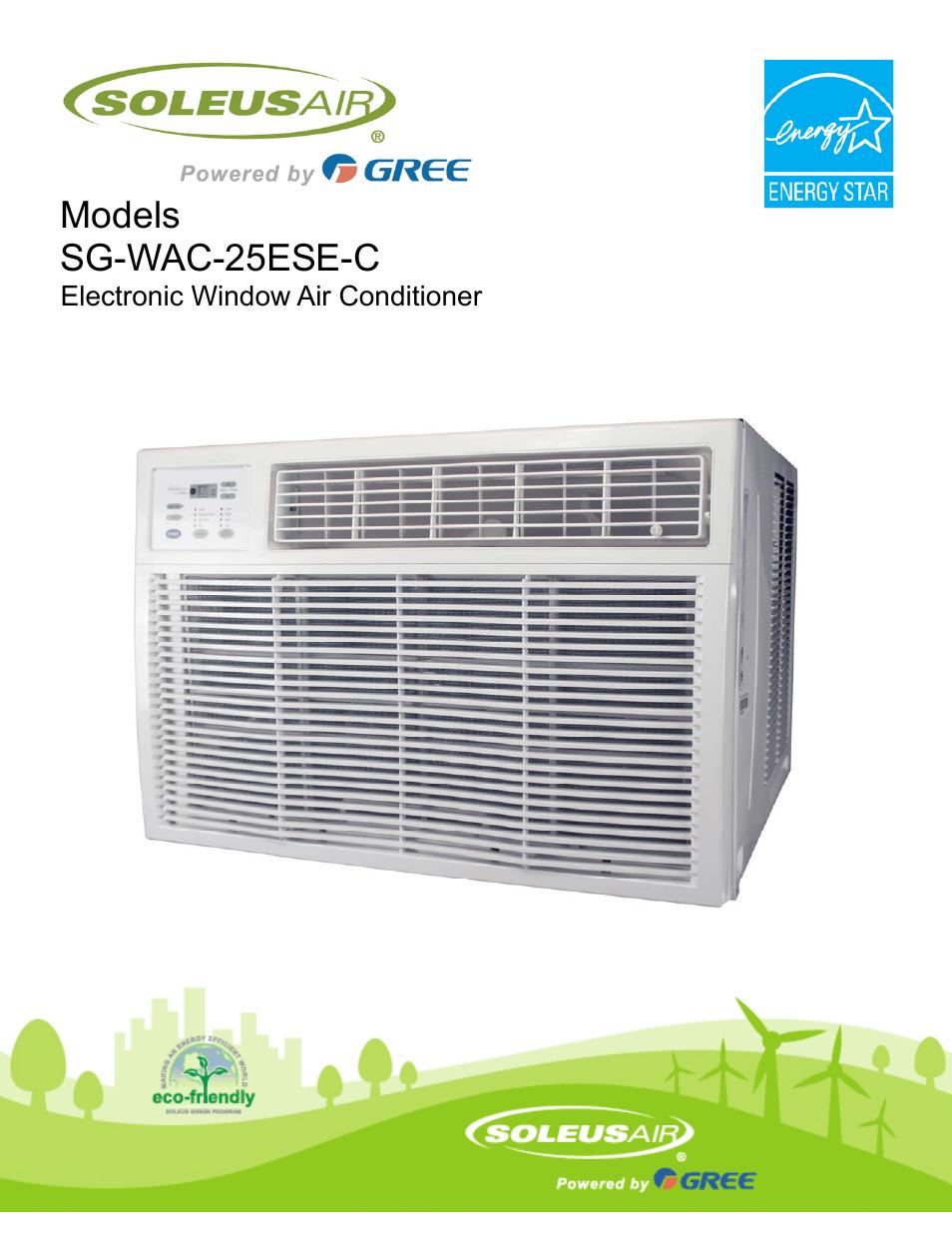 Soleus Air Electronic Window Air Conditioner Sg Wac 25ese