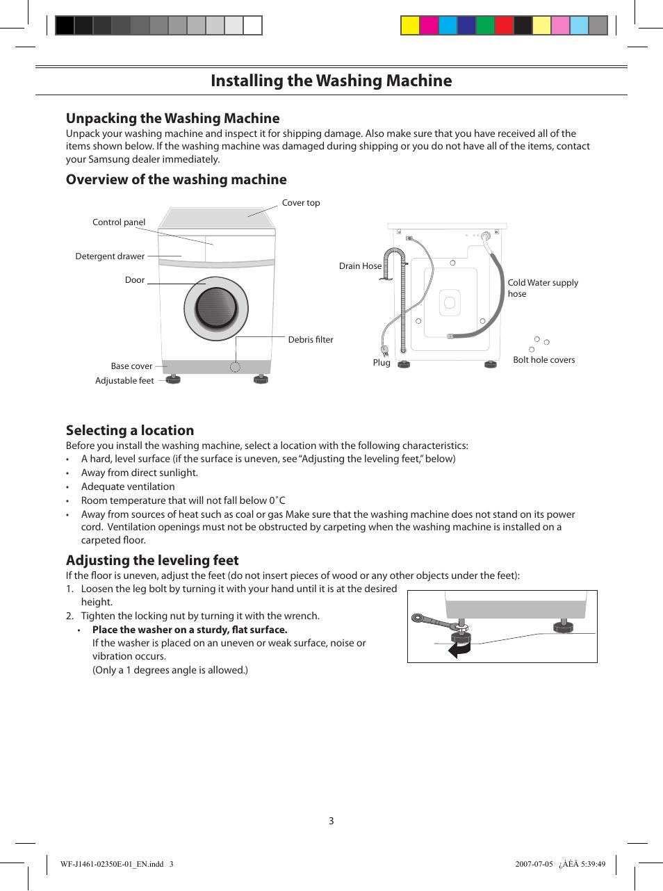 инструкция по пользованию стиральной машины самсунг wf-b1061