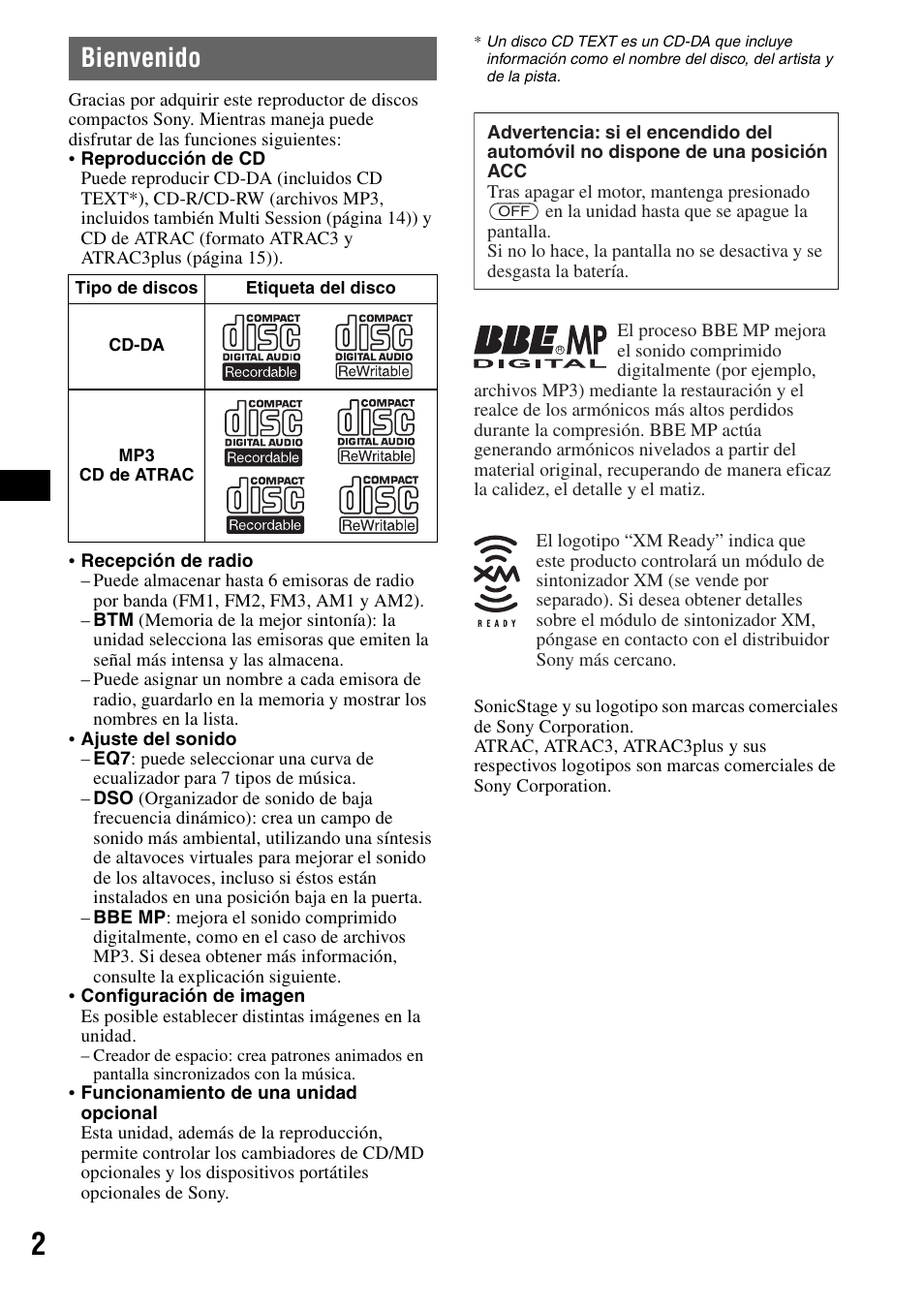 bienvenido sony cdx f7710 user manual page 38 56 original mode rh manualsdir com Sony Cdx Gt360mp sony cdx-f7710 owners manual