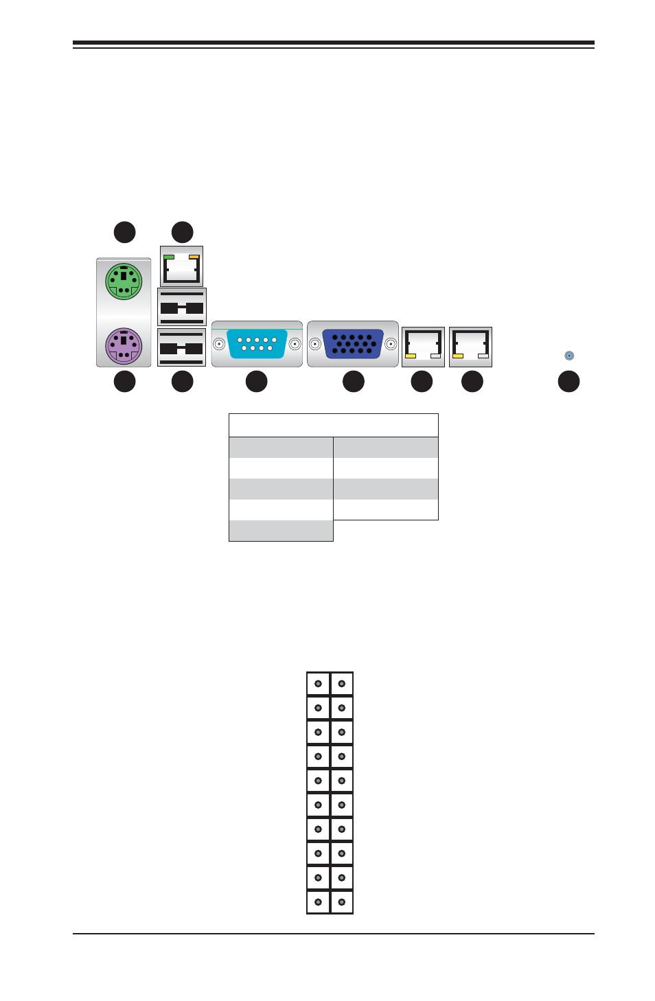 6 i o port and control panel connections front control panel rh manualsdir com Wire Connectors Molex Microfit Connector