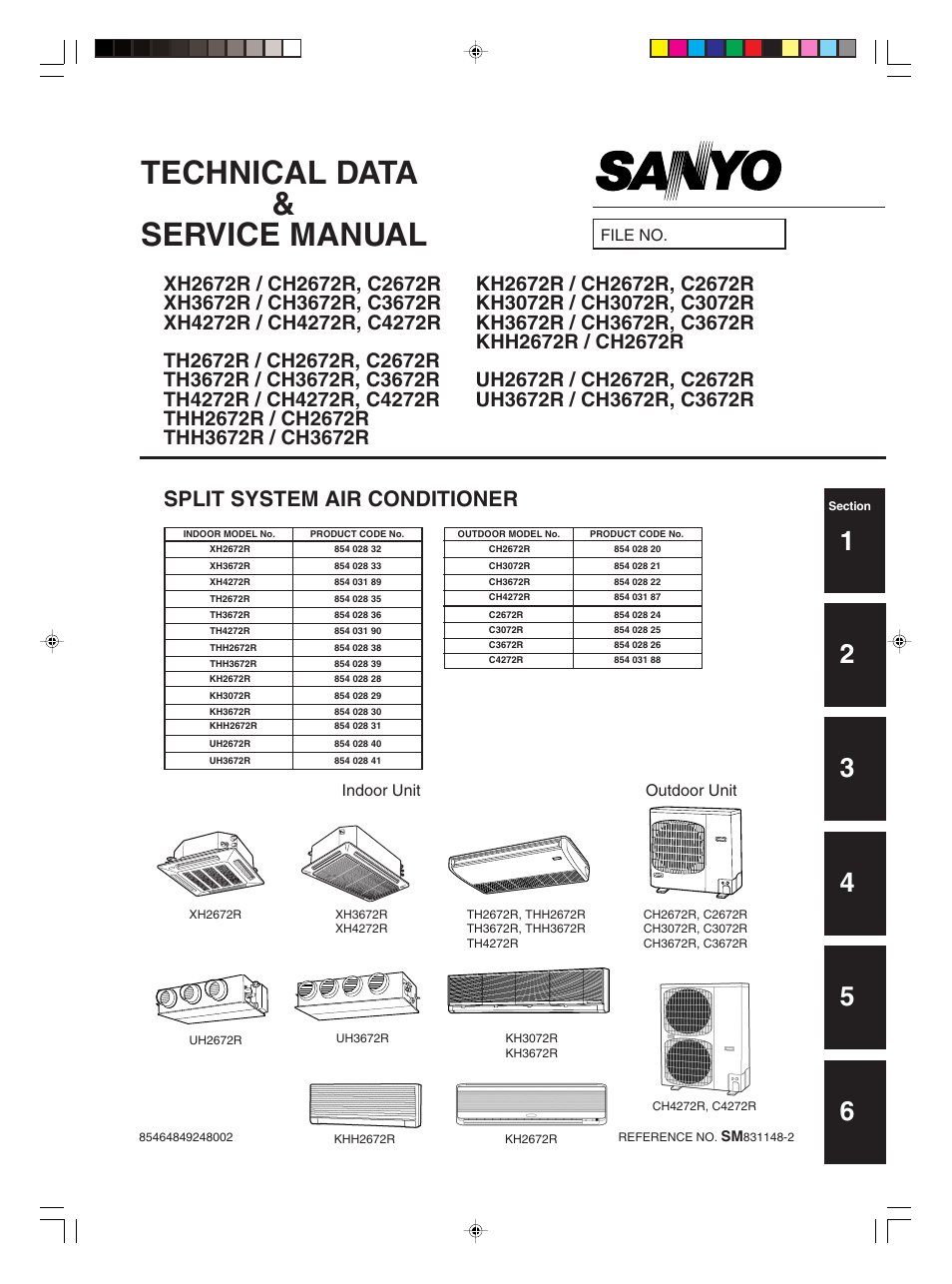 Sanyo Khh2672r Ch2672r User Manual 180 Pages Also border=