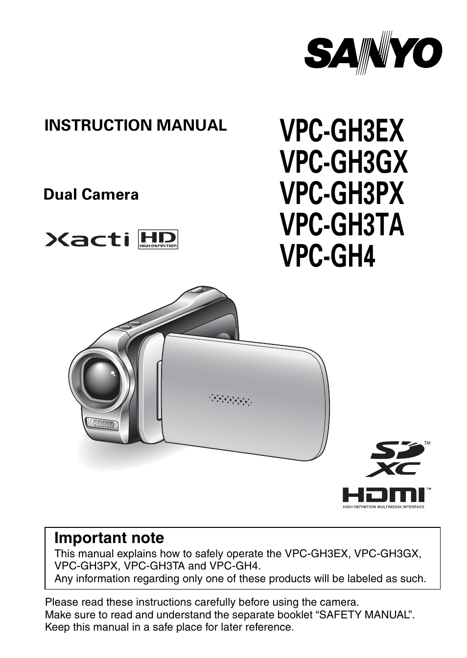sanyo xacti vpc gh3gx user manual 204 pages also for xacti vpc rh manualsdir com sanyo xacti avc/h 264 instruction manual sanyo xacti user manual