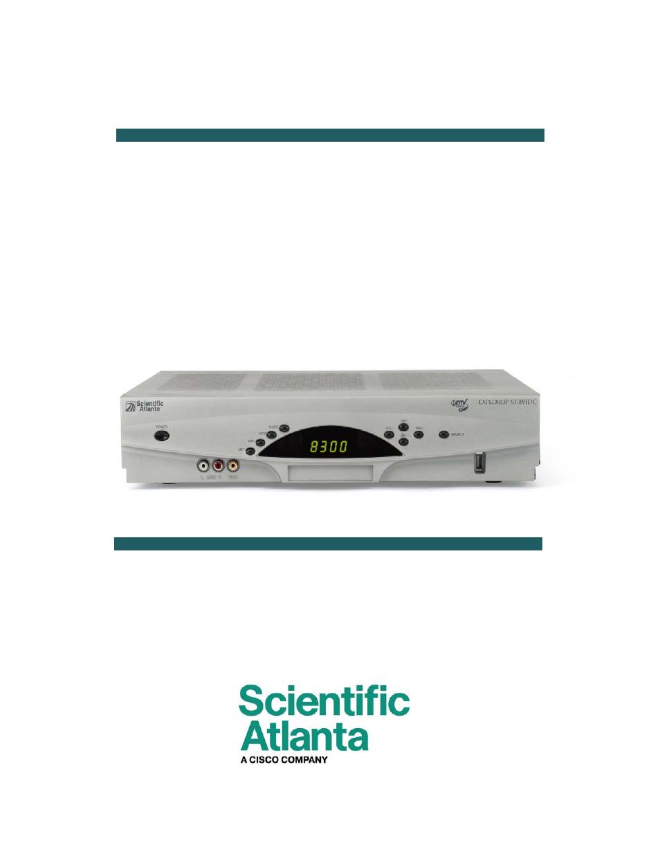 Scientific atlanta explorer 8600 hd user manual.