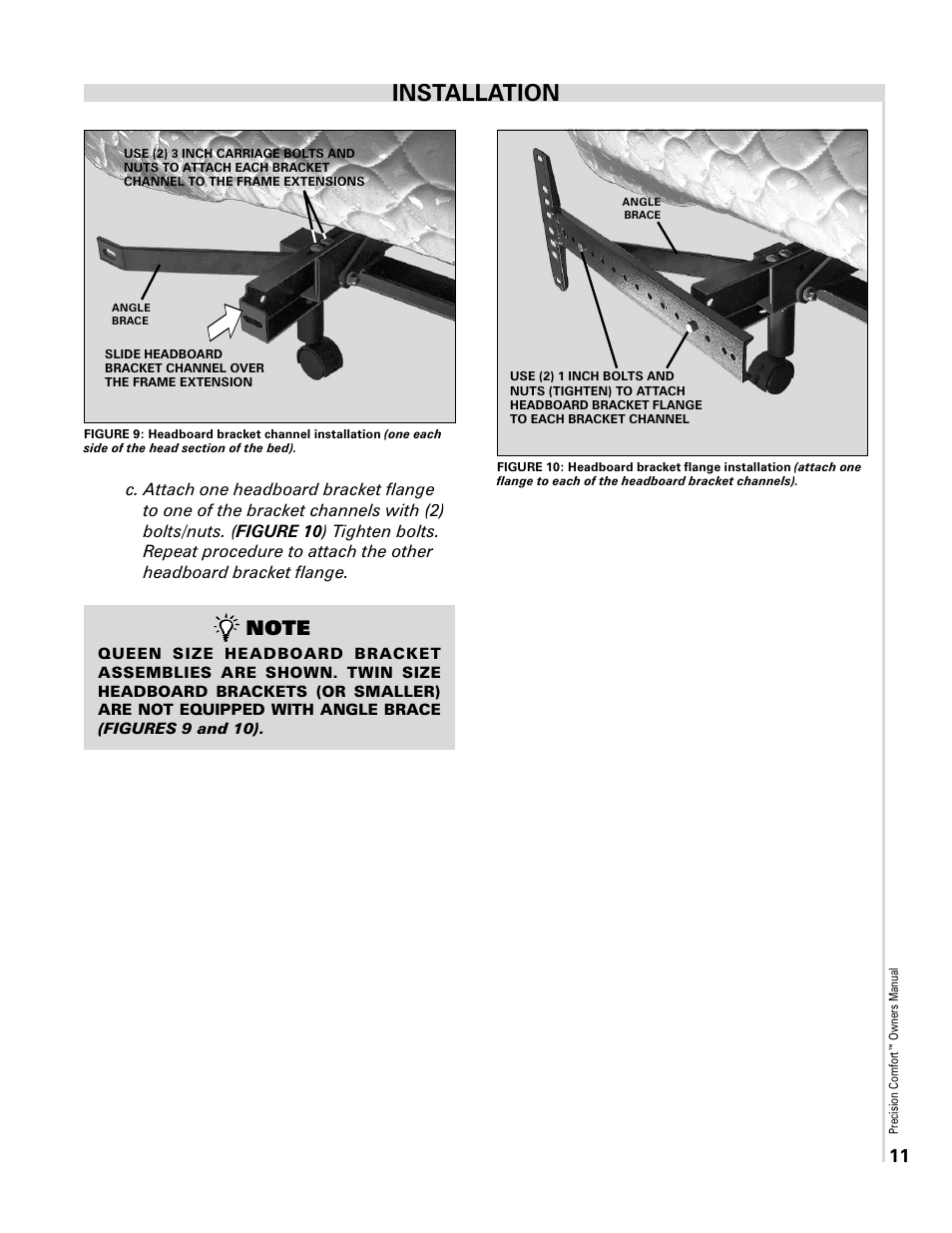 Installation | Select Comfort Precision Comfort Adjustable