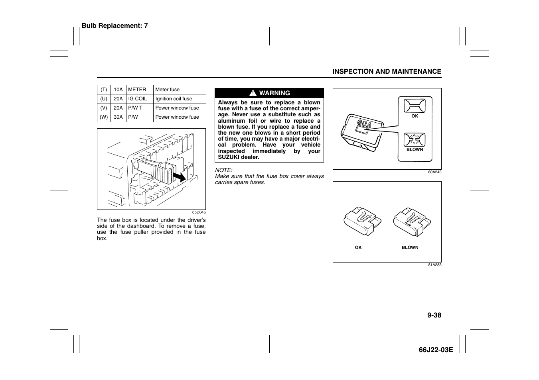 Suzuki Grand Vitara 99011 66j22 03e User Manual Page 245 290 Electrical Wiring Diagram