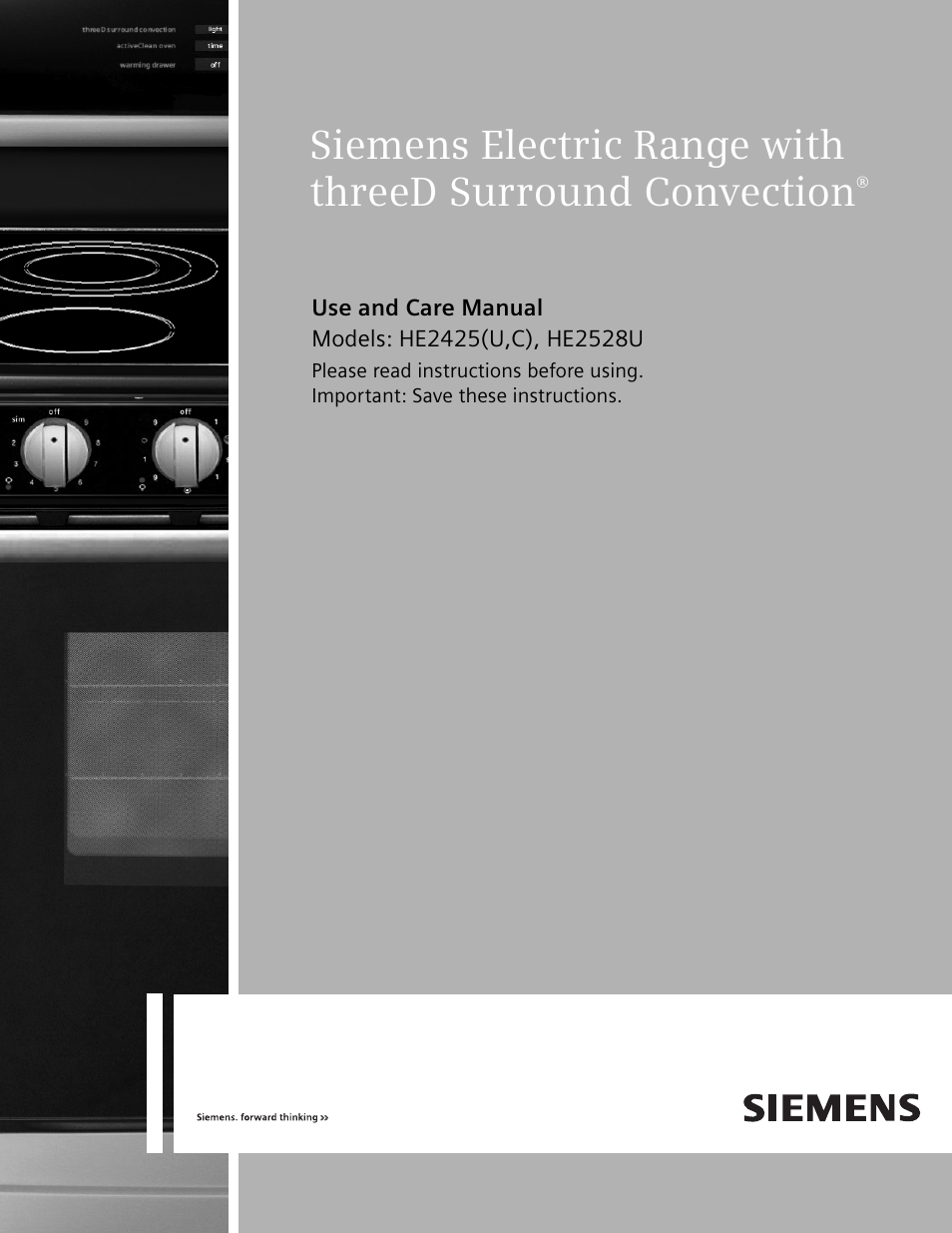 siemens no name he2425 user manual 48 pages also for electric range rh manualsdir com siemens range cooker manual siemens range cooker manual