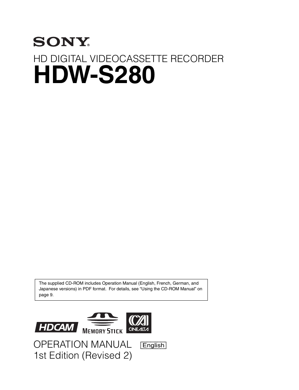 ... Array - sony hdw s280 user manual 94 pages rh manualsdir ...