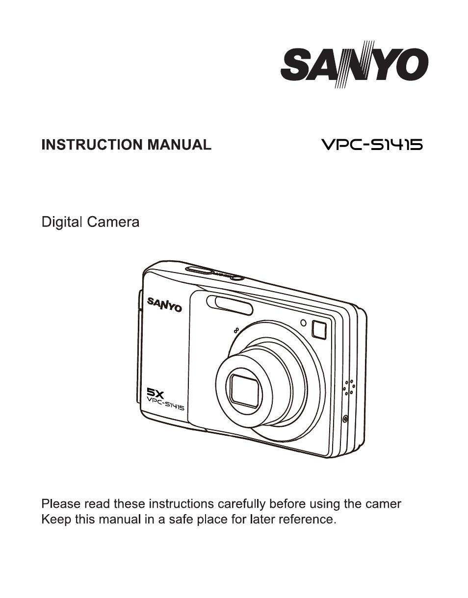 sanyo vpc s1415 user manual 46 pages rh manualsdir com