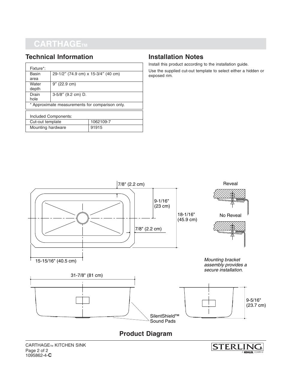 carthage technical information product diagram sterling plumbing rh manualsdir com Gerber Plumbing Sterling Plumbing Shower Doors