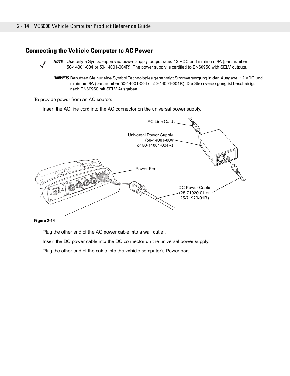 Connecting The Vehicle Computer To Ac Power 14 Connecting The