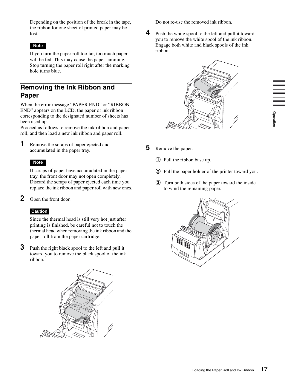 removing the ink ribbon and paper sony up dr150 user manual page rh manualsdir com Sony User Manuals Sony 5 CD Recorder Sony DAV HDX576WF Manual