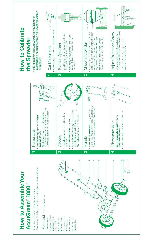 Scotts Spreader Parts Manual