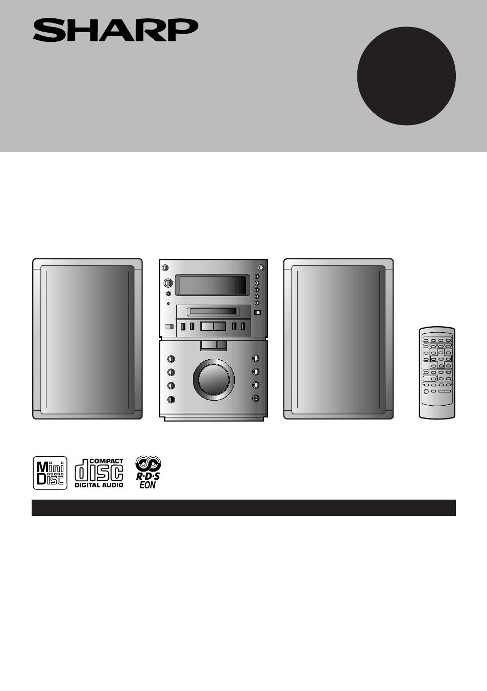 sharp md m3h user manual 52 pages rh manualsdir com sharp audio system manual xl-dk255 Sharp 5-Disc Stereo System