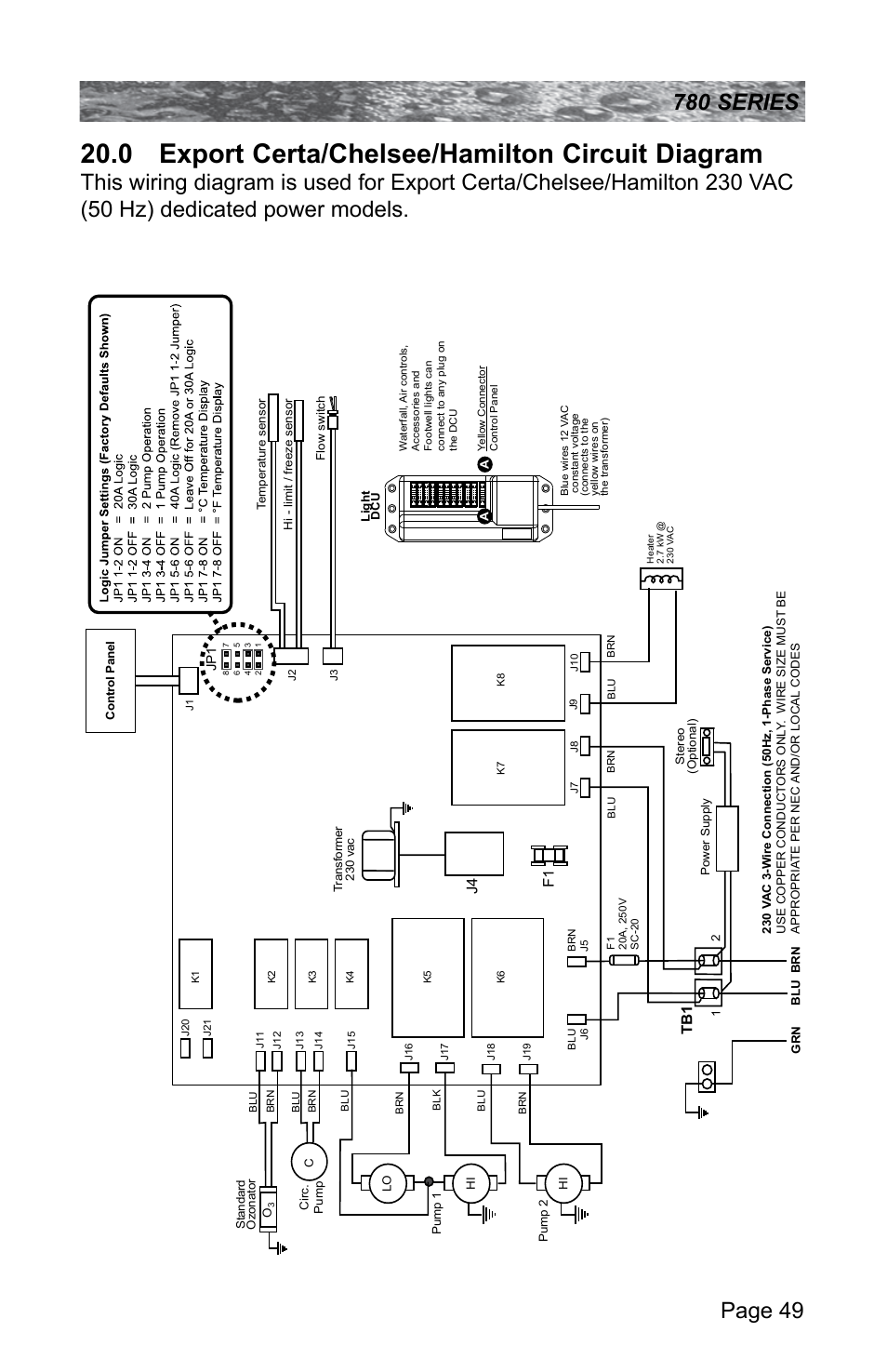0 Export Certa Chelsee Hamilton Circuit Diagram Sundance Spas Spa Wiring Instructions Camden 780 User Manual Page 53 72