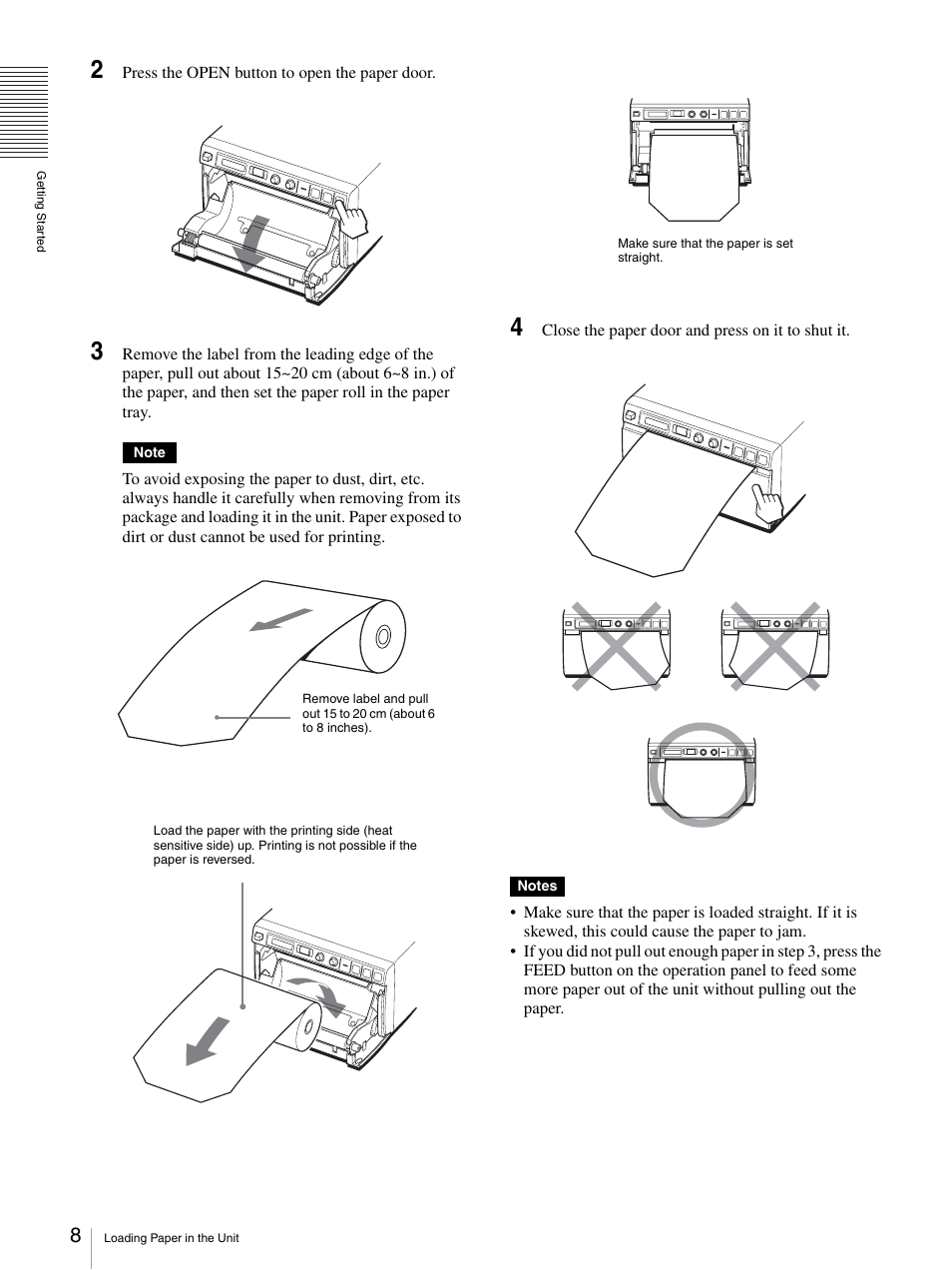 On (8, Tton (8, 14) | Sony UP-D897 User Manual | Page 8 / 22