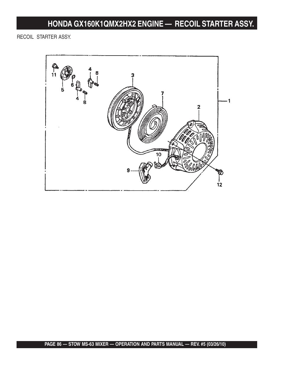 Stow Mortar Mixer Parts Manual - User Manual Guide •