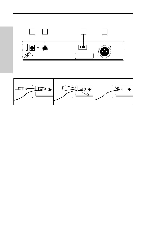 Vr3td Receiver Rear Panel Guided Tour 6 Wiring Xlr Jack Samson Vhf Series User Manual Page 54