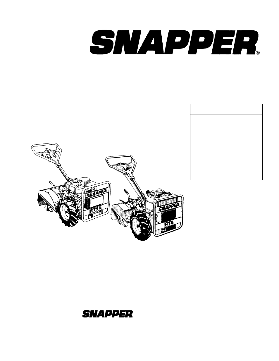 Snapper R8002be User Manual 54 Pages Also For R5002r Rt5x Parts Diagram R5002b R8002b