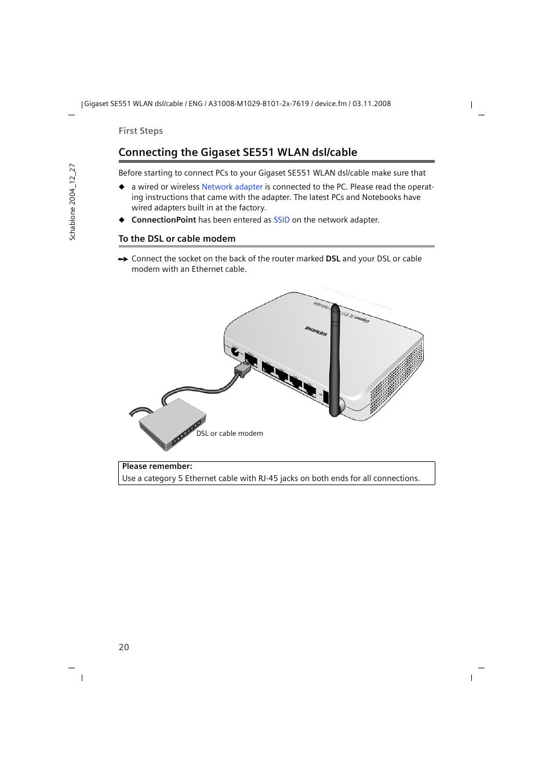Modern Dsl Ethernet Cable Vignette - Best Images for wiring diagram ...